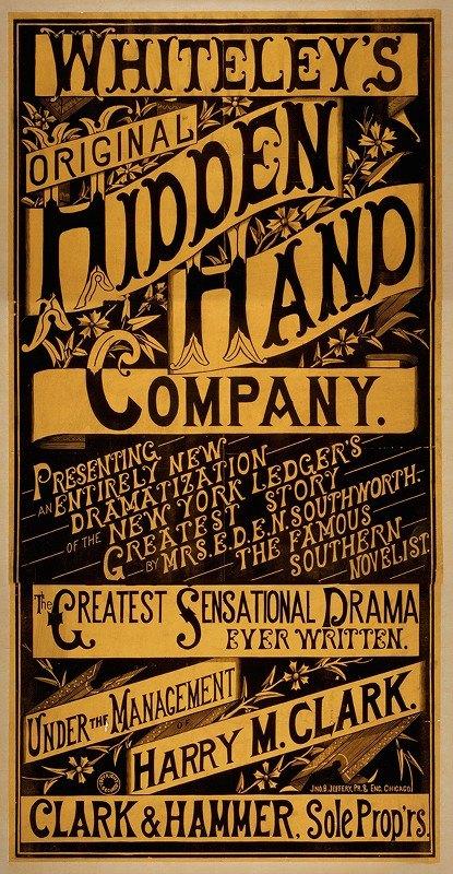 Jno. B. Jeffery - Whiteley's Original Hidden Hand Company