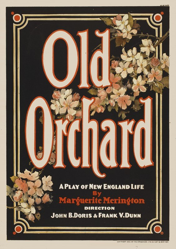 Strobridge and Co - Old orchard a play of New England life