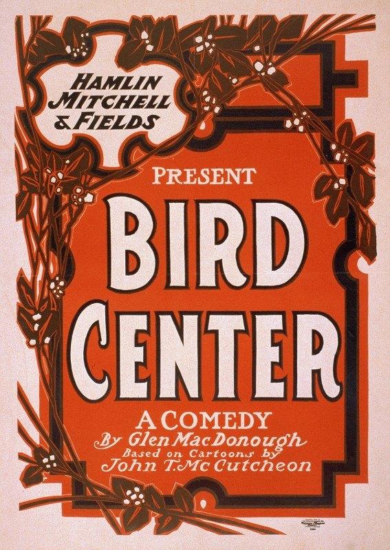 U.S. Lithograph Co. - Bird center