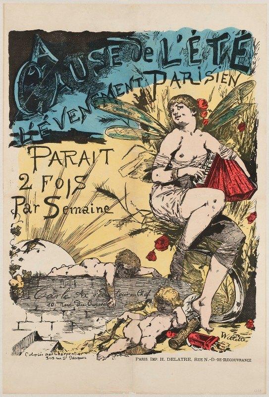 Willette Adolphe Léon - A Cause De L'ete N L'evenement Parisien