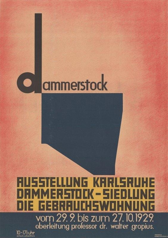Kurt Schwitters - Dammerstock, Ausstellung Karlsruhe, Dammerstock-Siedlung, Die Gebrauchswohnung