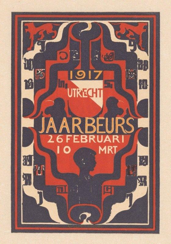 Carel Adolph Lion Cachet - Aankondiging voor jaarbeurs Utrecht 1917