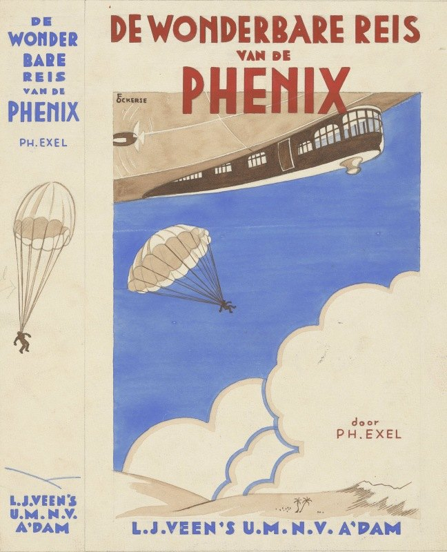 F. Ockerse - Bandontwerp voor; Philipp Exel, De wonderbare reis van de Phenix, 1934