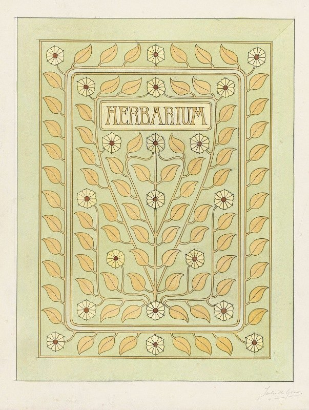 Julie de Graag - Ontwerp voor een omslag voor een herbarium
