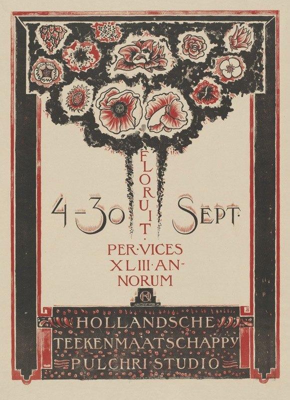 Richard Nicolaüs Roland Holst - Hollandsche Teekenmaatschappij Pulchri Studio 4-30 Sept.