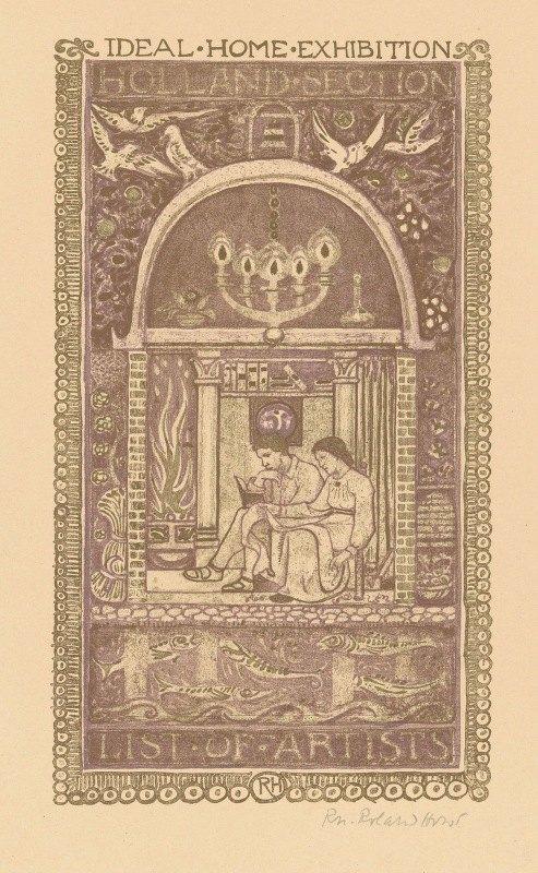 Richard Nicolaüs Roland Holst - Omslagontwerp voor; Catalogus van de Ideal Home Exhibition, 1912