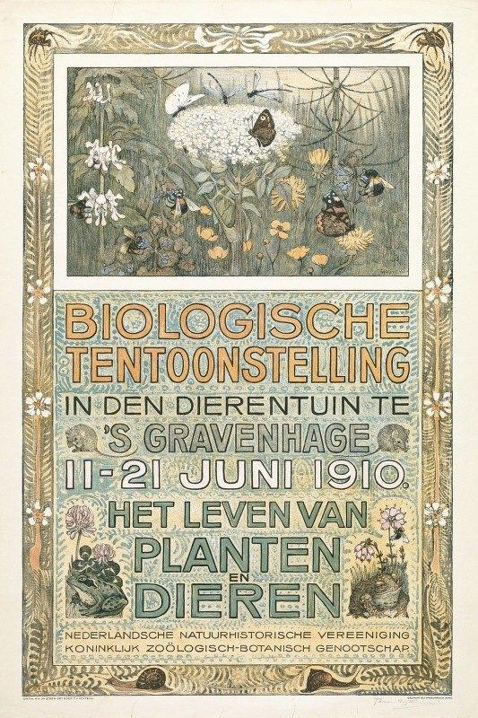 Theo van Hoytema - Affiche voor de Biologische Tentoonstelling in juni 1910