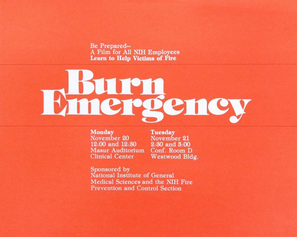 National Institutes of Health - Burn emergency