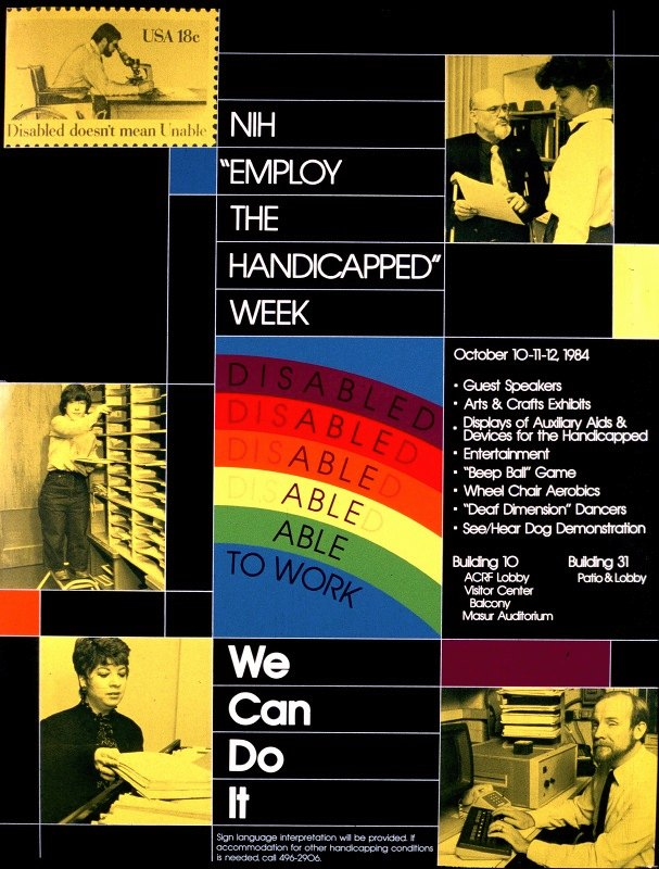 National Institutes of Health - NIH 'Employ the Handicapped' Week
