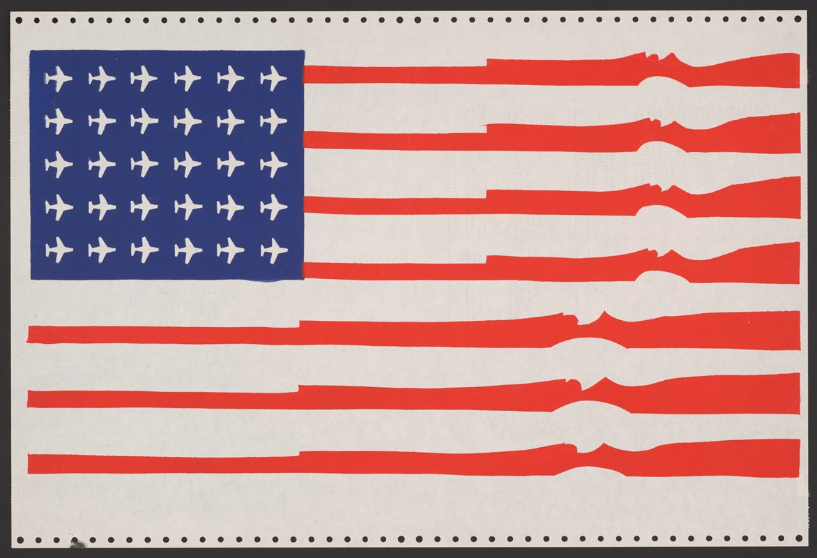 Anonymous - U.S. flag: guns for stripes, planes for stars