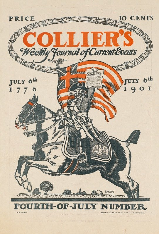 Edward Penfield - Collier's weekly journal of current events, Fourth-of-July number