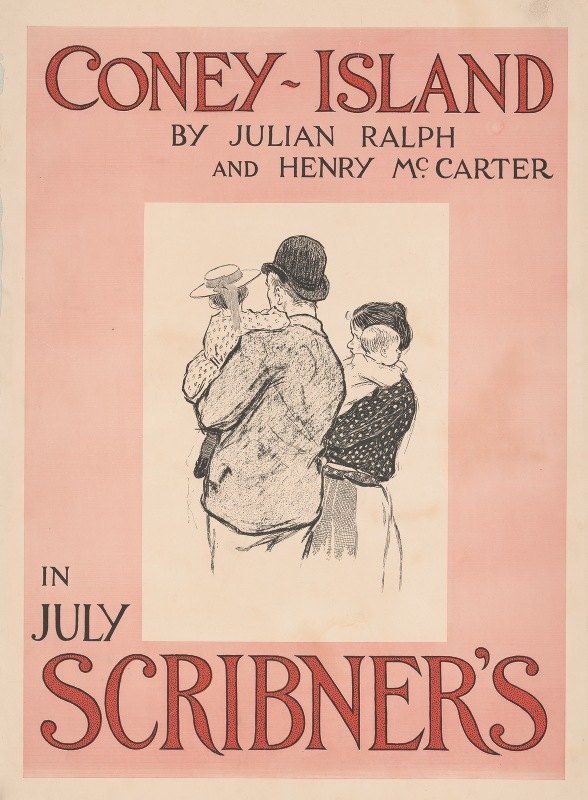 Henry McCarter - Coney-Island by Julian Ralph & Henry McCarter in July Scribner's