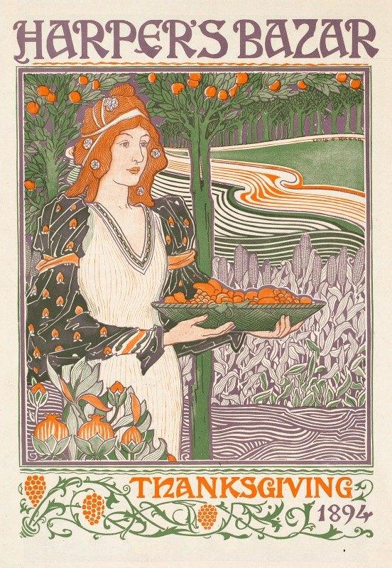 Louis Rhead - Harper's bazar Thanksgiving 1894