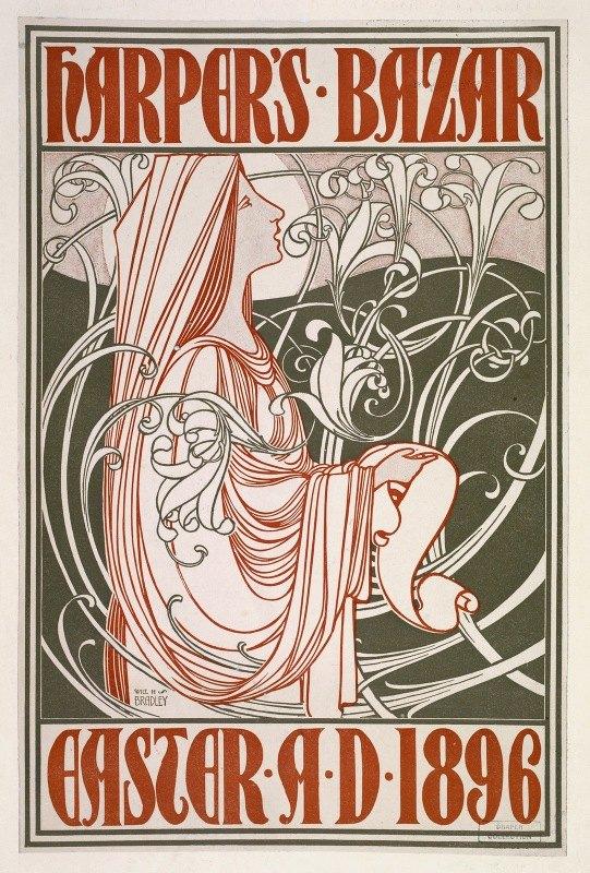 Will Bradley - Harper's Bazar. Easter A. D. 1896.