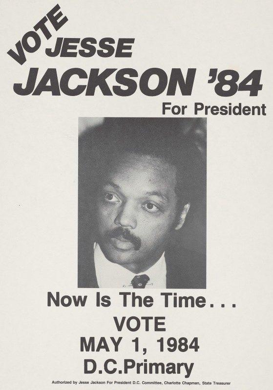 Anonymous - Vote Jesse Jackson '84 for president.