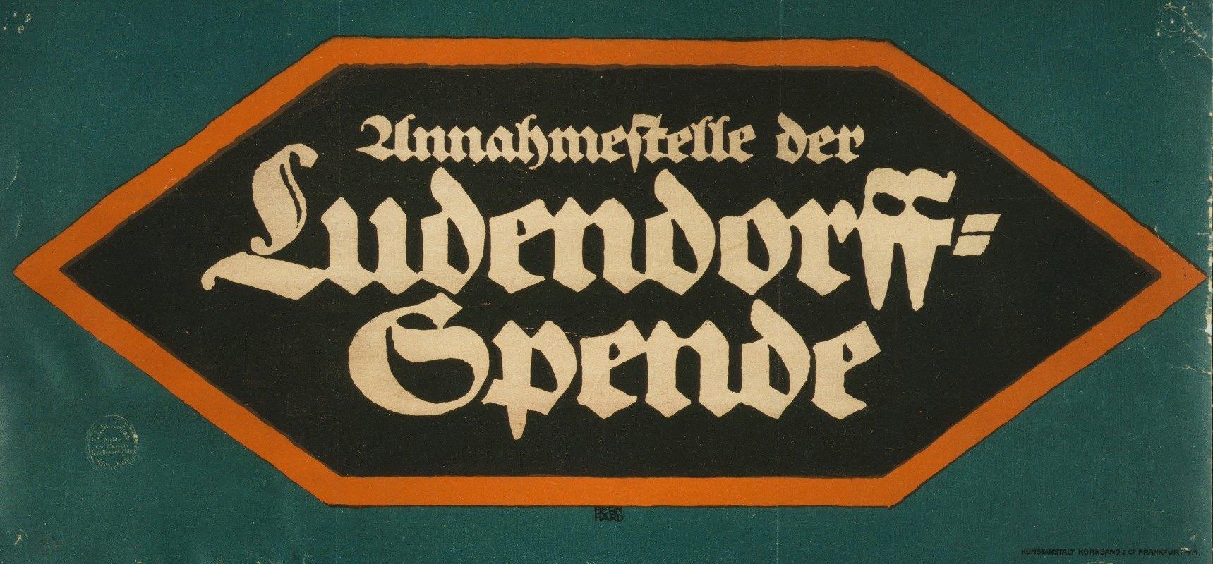 Lucian Bernhard - Annahmestelle der Ludendorff-Spende