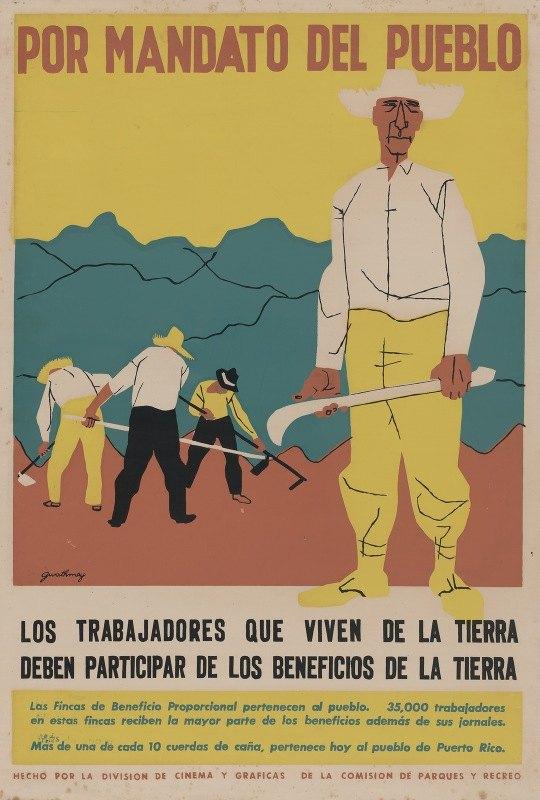 Robert Gwathmey - Por mandato del Pueblo – los trabajadores que viven de la tierra deben participar de los beneficios de la tierra