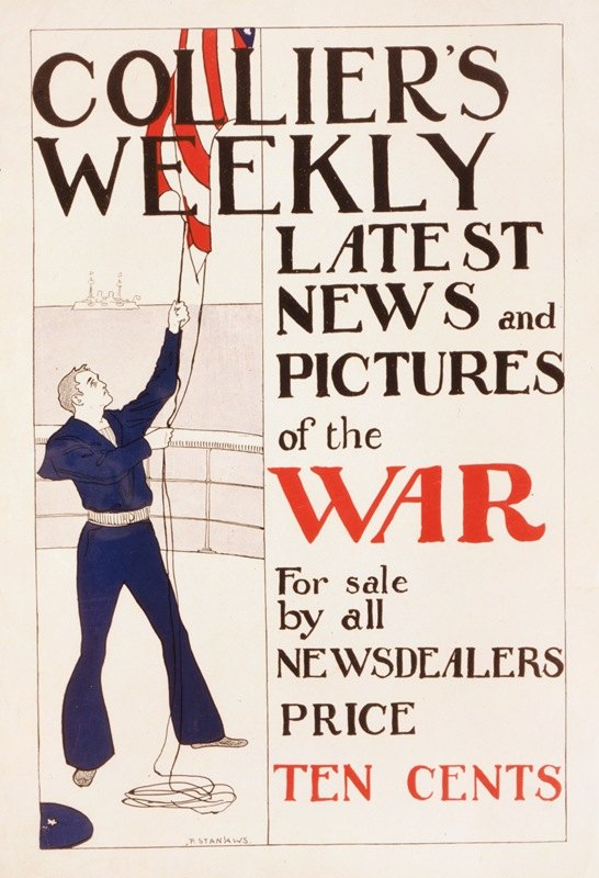Penrhyn Stanlaws - Collier's weekly latest news and pictures of the war for sale by all newsdealers
