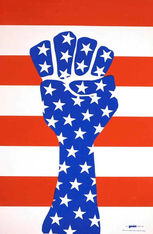 Anonymous - Clenched fist with stars and stripes