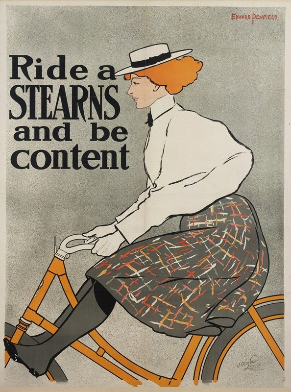 Edward Penfield - Ride a Stearn and Be Content