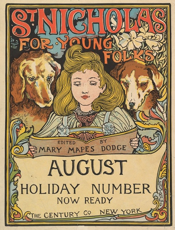 Louis Rhead - The Century; Holiday Number; St. Nicholas for Young Folks, August