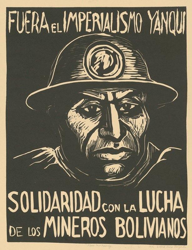 Rachael Romero - Fuera el imperialismo yanqui. Solidaridad con la Lucha de los Mineros Bolivianos