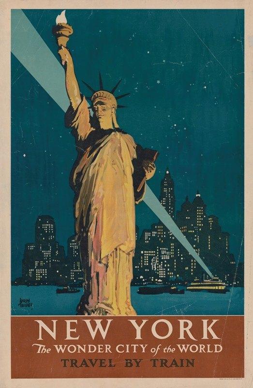 Adolph Treidler - New York, the wonder city of the world Travel by train