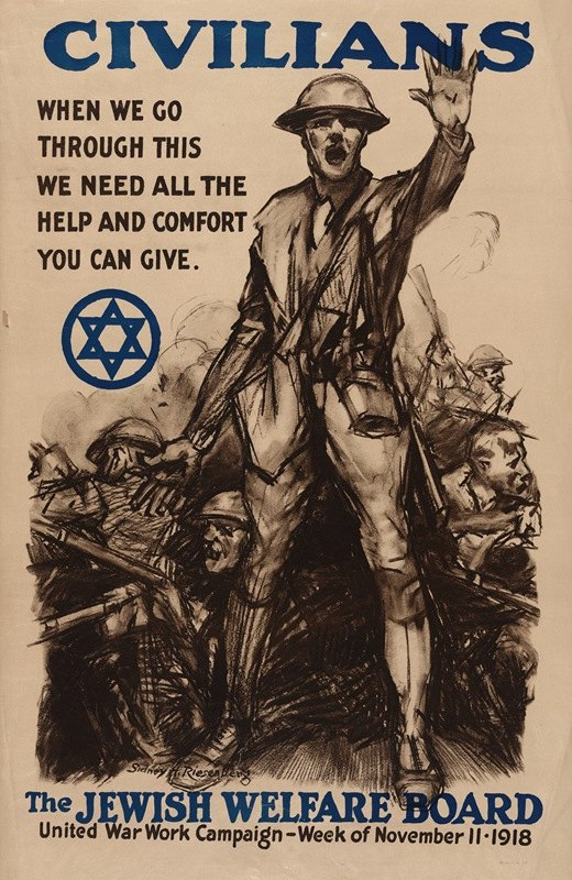 Sidney Riesenberg - Civilians, when we go through this we need all the help and comfort you can give – The Jewish Welfare Board