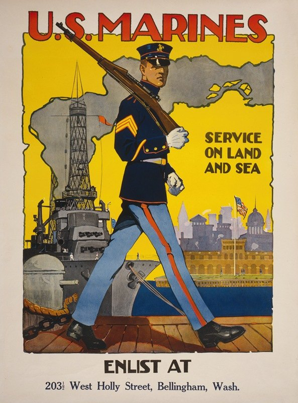 Sidney Riesenberg - U.S. Marine Corps – Service on land and sea