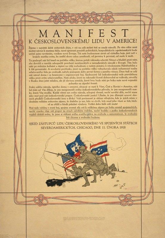 Vojtech Preissig - Manifest k Československému lidu v Americe!