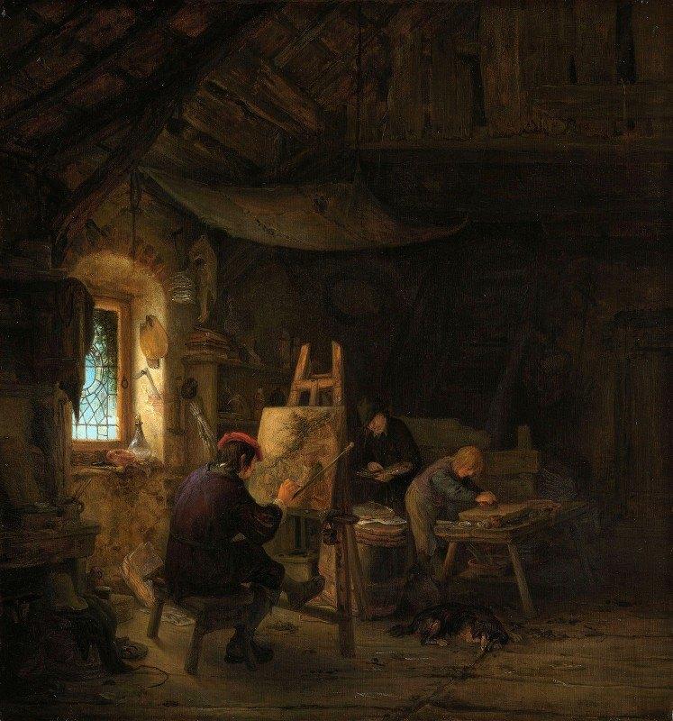 Adriaen van Ostade - The Painter's Studio