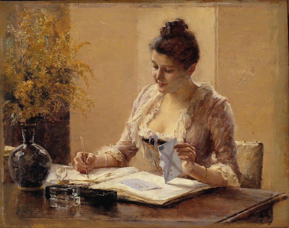 Albert Edelfelt - Lady Writing a Letter