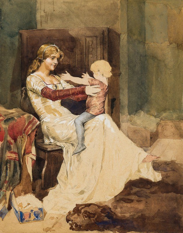Albert Edelfelt - Queen Blanka. Study