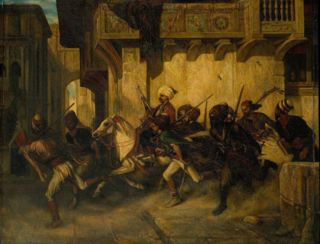 Alexandre-Gabriel Decamps - The Turkish Patrol