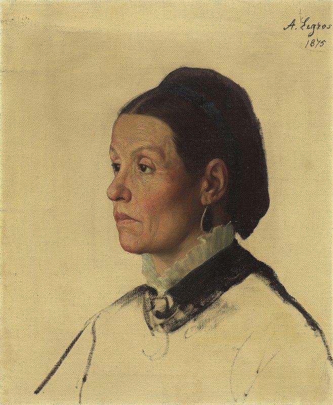 Alphonse Legros - Portrait of a Woman