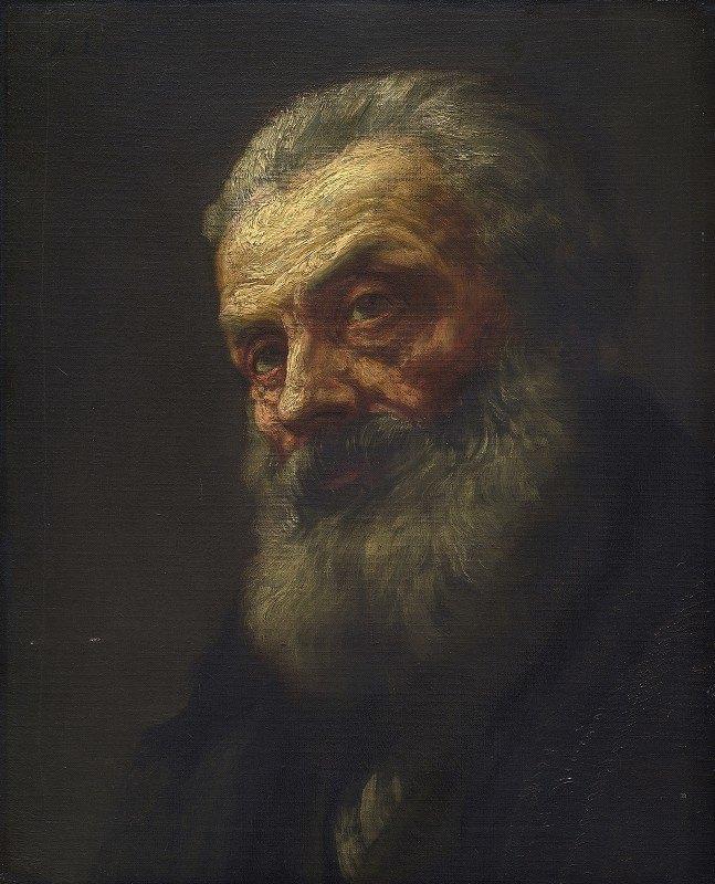 Alphonse Legros - Portrait of an Old Man