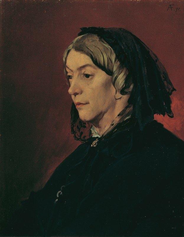 Anselm Feuerbach - Henriette Feuerbach, the artist's stepmother