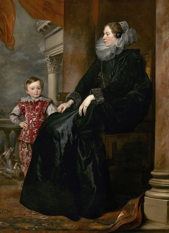 Anthony van Dyck - A Genoese Noblewoman and Her Son