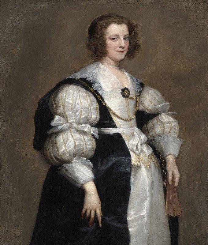 Anthony van Dyck - Lady with a Fan