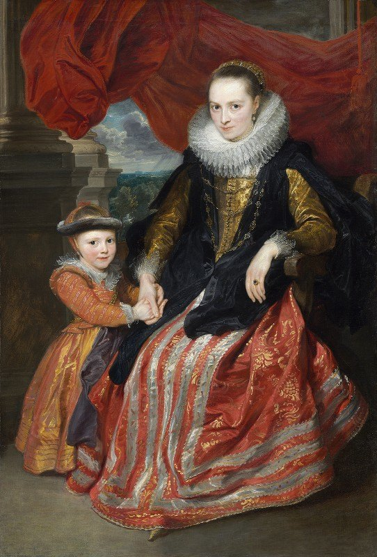 Anthony van Dyck - Susanna Fourment and Her Daughter