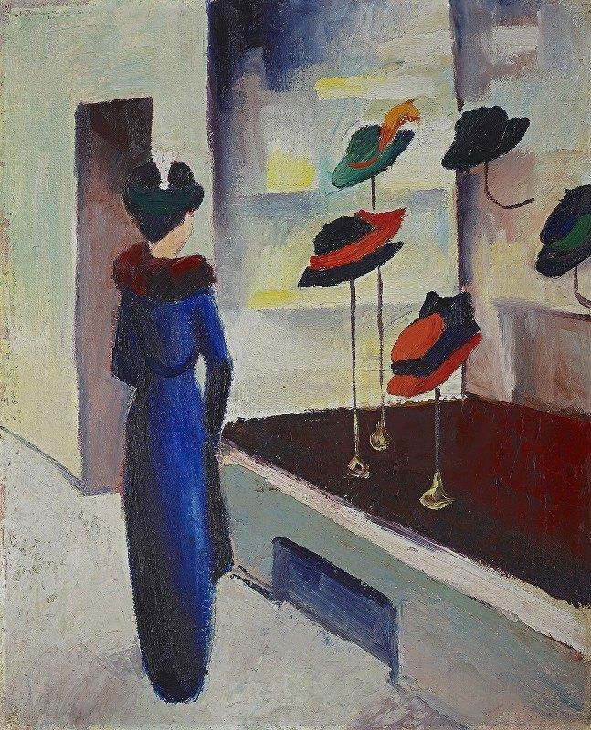 August Macke - Hat shop