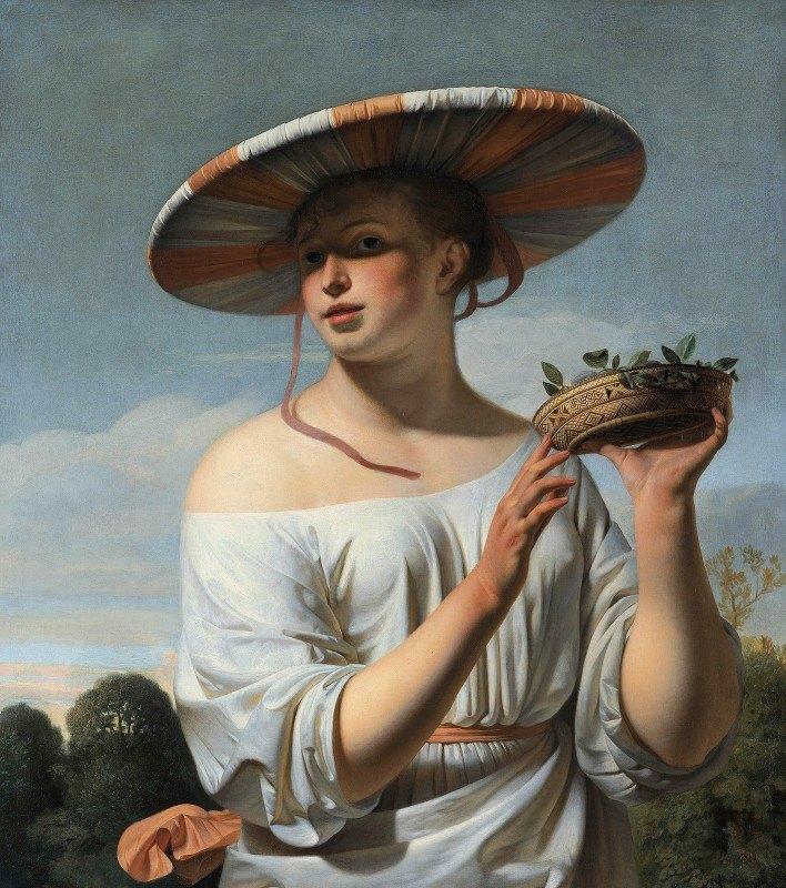 Caesar Van Everdingen - Girl in a Large Hat