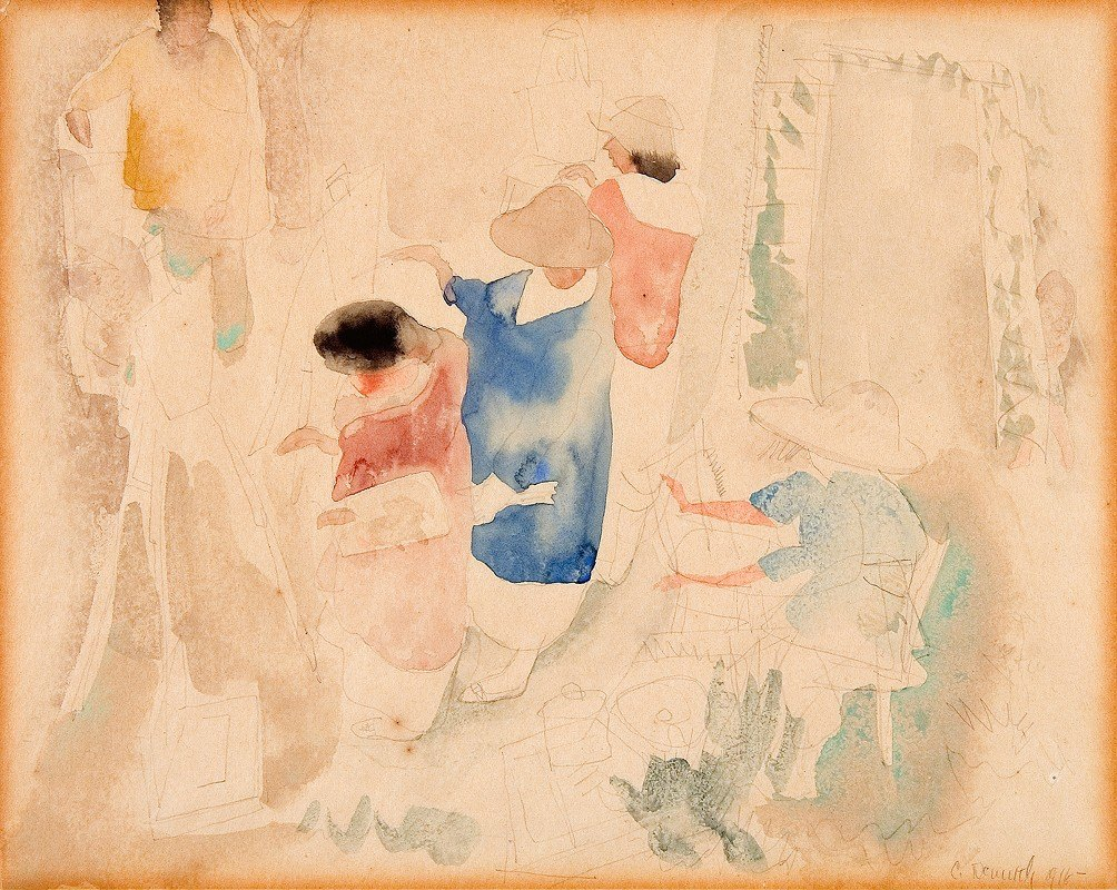 Charles Demuth - Artists Sketching