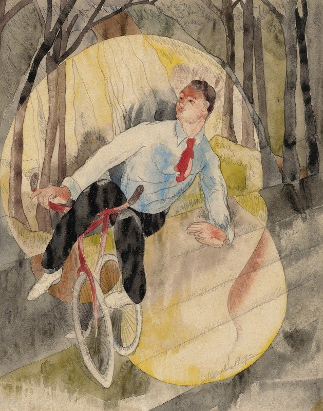 Charles Demuth - In Vaudeville, the Bicycle Rider