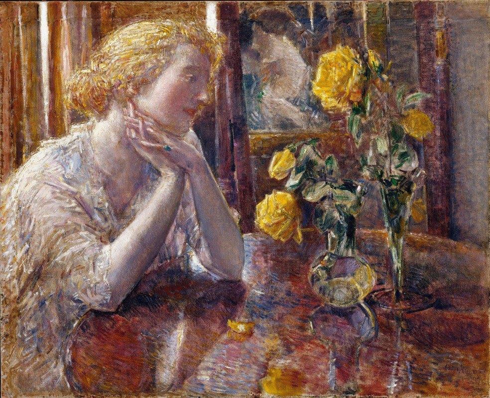 Childe Hassam - Maréchal Niel Roses