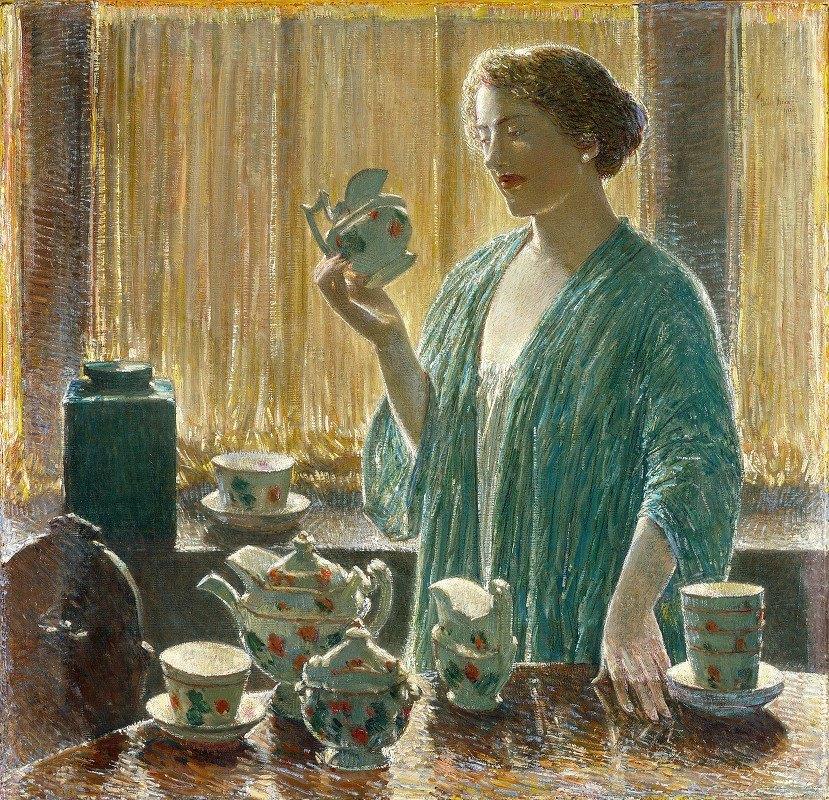 Childe Hassam - Strawberry Tea Set