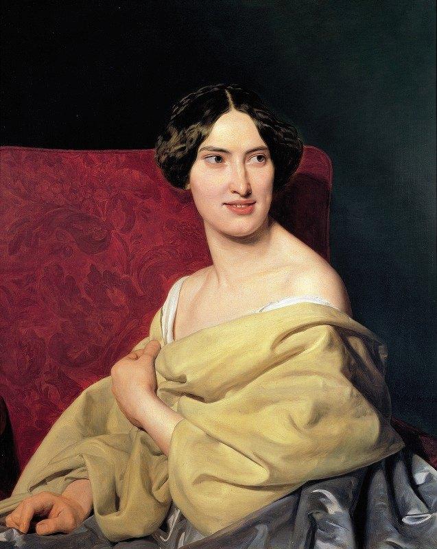 Ferdinand Georg Waldmüller - Anna Bayer, the artist's second wife