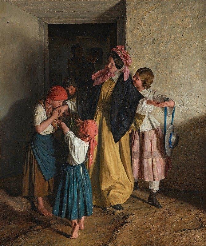 Ferdinand Georg Waldmüller - Godmother's Farewell (After Confirmation)