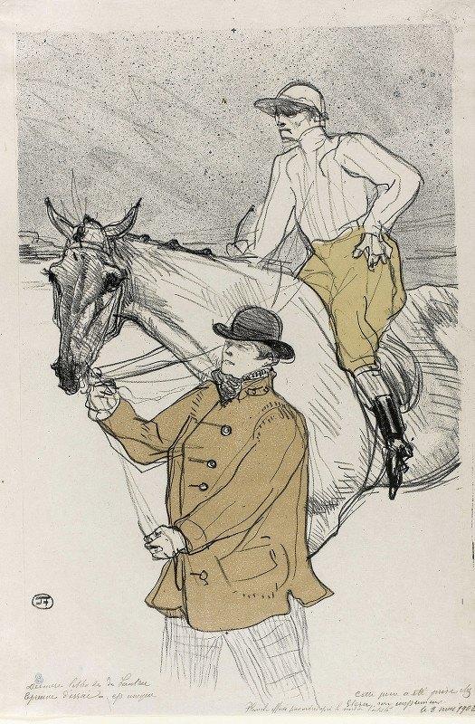 Henri de Toulouse-Lautrec - The Jockey Going to the Post