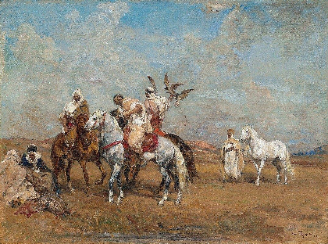 Henri Émilien Rousseau - La chasse au faucon